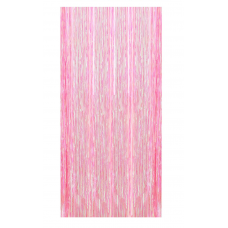 Party curtain pink iridescent, 200cm x 100cm