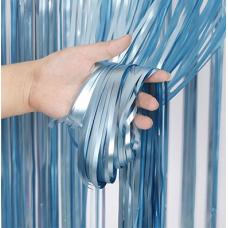 Party curtain, blue, 90x250cm