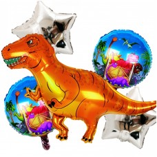 Deluxe Balloon set Dinosaur - 5pcs