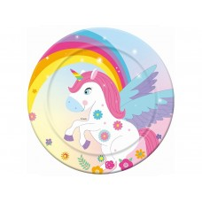"Paper plates ""Rainbow Unicorn"", 23 cm, 6 pcs"