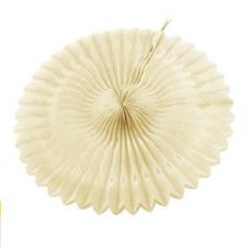 Paper fan, 20cm, vanilla, 1 pc