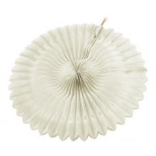 Paper fan, 20cm, white, 1 pc