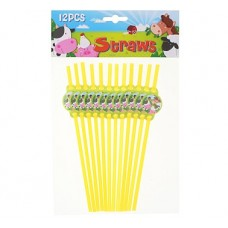 "Straws ""Farm"", 12pcs"