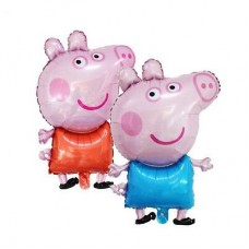 Foil Balloons Peppa and George Pig - 78cm - 2pcs