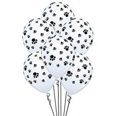 Latex Balloon 30cm Footprints - 6pcs