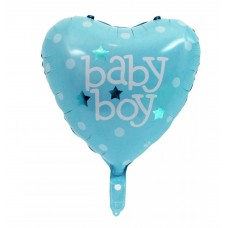 "Heart foil Balloon ""Baby Boy"" 43cm - boy"