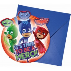 "Invitations ""PJ Masks"" , 6 items"