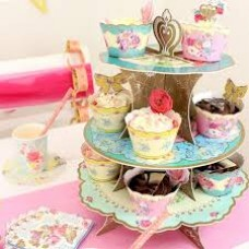 1 Truly Scrumptious Vintage Cup Cake Stand - 3 Tier