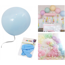 "Latex Balloons ""Macaron"" 48cm, light blue, 2 pcs"