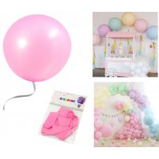 "Latex Balloons ""Macaron"" 48 cm, light pink, 2 pcs"