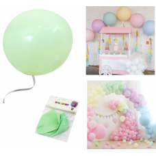 "Latex Balloons ""Macaron"" 48cm, pistachio, 2 pcs"