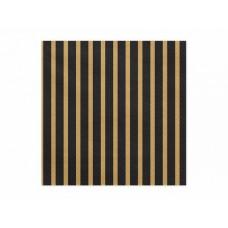 Napkins Stripes, 33x33cm, gold (1 pkt / 20 pc.)