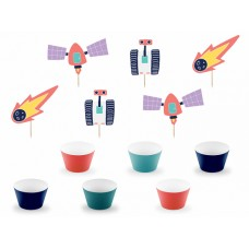 Cupcake kit Space (1 pkt / 6 pc.)