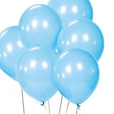 10 Latex Balloons Pearl PowderBlue 27.5 cm/11''