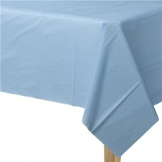 Baby Blue Plastic Tablecover - 1.37m X 2.74m