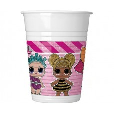 LOL Platic cups 200ml -8pc