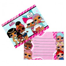 L.o.l Surprise Party Invitation Cards, 8pcs