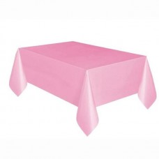Plasctic tablecover light pink - 137cm x 274 cm