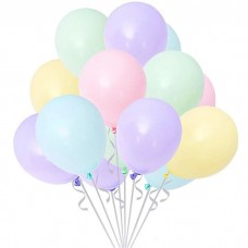 "Balloons, macaron colours assorted 12"" / 10 pcs."