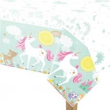 Magical Unicorn Plastic Tablecover - 137 см x 243 см