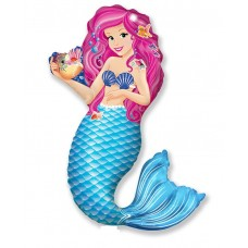 Foil balloon Mermaid with Shell 114cm