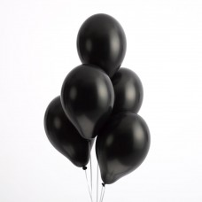 Strong Balloons 27cm, Metallic Black (1 pkt / 10 pc.)