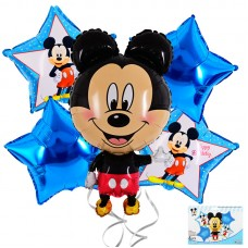 Foil Balloons set, Mickey Mouse, 5 pcs