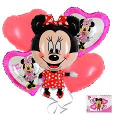 Foil Balloons set, Minnie Mouse, 5 pcs