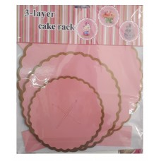 Cupcake stand 3 tier, pink