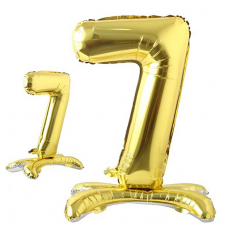 Foil Standing Balloons, number 7, gold 81cm