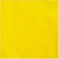 Napkins, 3 layers, yellow, 33x33cm (1 pkt / 20 pc.)