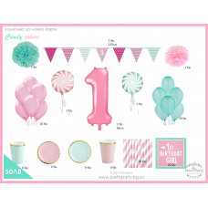 Kit Candy Colors - 1st Birthday
