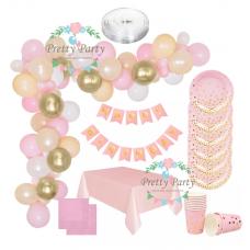 Party Set Gold, light pink