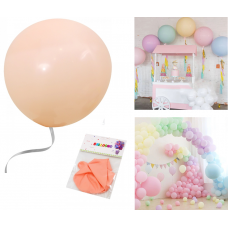 "Latex Balloons ""Macaron"" 48cm, light peach, 2 pcs"