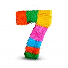 """Pinata digit """"7"""", size 50x35x7.5 cm"""