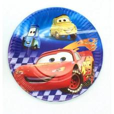 Party plates, Cars, 10 pcs
