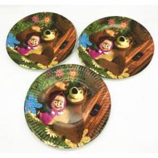 Paper Plates 18cm, 10pcs, Masha and the Bear