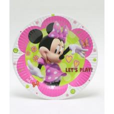 Paper Plates 18cm, 10pcs, Minnie Mouse