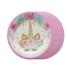 Party Plates Unicorn 10pcs