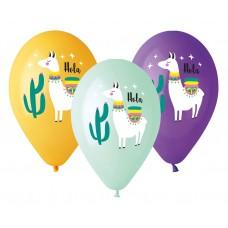 """Premium helium balloons """"Lama"""", 13"""" / 5 pcs"""