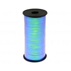 Iridescent ribbon, turquoise blue, 100y 92 m