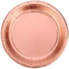Party plates rose gold, 18cm, 10pcs