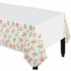 1 Floral Baby Paper Tablecover - 1.4m x 2.6m