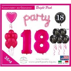 Kit Balloons Bright Pink
