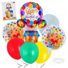 "Balloons set Happy Birthday ""Bear"", 7pcs"