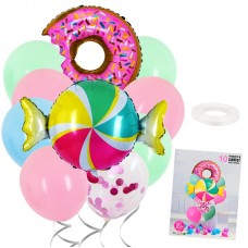 Balloon set Donut and Candy, 10pcs