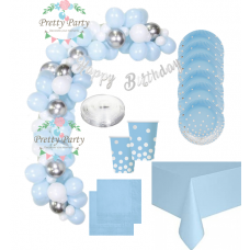 Party Set Blue and Silver + arch