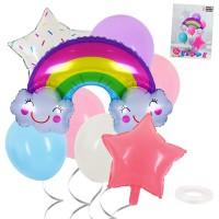 Balloons set Rainbow and stars, 8pcs