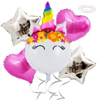 Set Foil Balloons Unicorn, 5 pcs