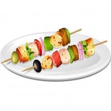 50 skewers set - 200mm*2,5mm
